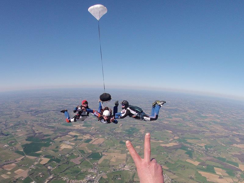 Saut en parachute Solo